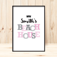 Beach house custom print (more colours)