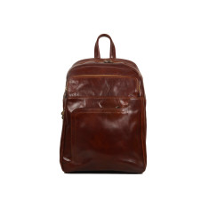 Pinto leather backpack in brown