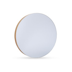 Nina Natural Wood Mirror 41cm by Oak and Ash