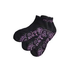 Non slip socks yoga/pilates - 3 pack (purple)