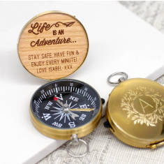 Personalised adventure compact compass