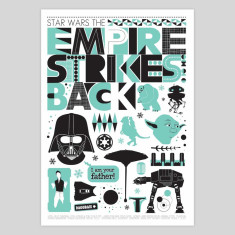 The Empire Strikes Back Scandi style art print