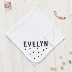 Personalised New Baby Scandi Triangle Blanket