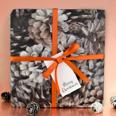 Pine Cone Gift Wrap