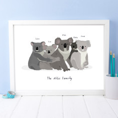 Personalised Koala Family Print