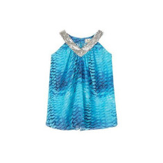 Girls' little mermaid silk dress