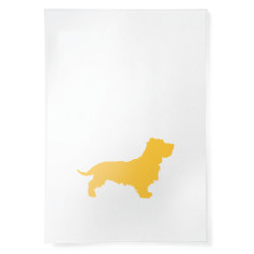 Hairy Dachshund linen tea towel