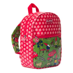 Kids backpack in gnome circle flower print