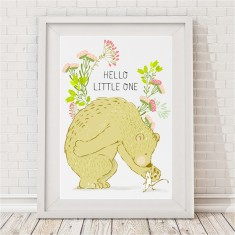 Hello little one bear print