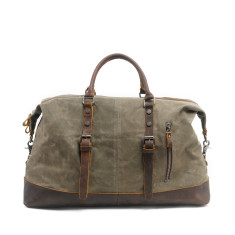 Canvas Weekender Bag With Leather Handle