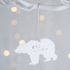 Personalised Baby's First Christmas Polar Bear