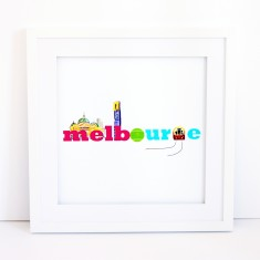 Little Traveller Typography Print - Melbourne
