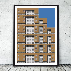 New York Facades - Riverview, Yonkers giclee art print