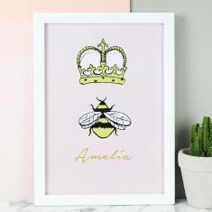 Queen Bee A4 Print