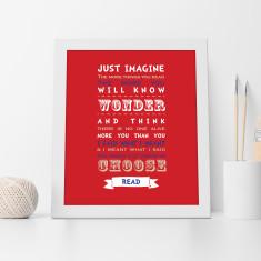 Dr Seuss Just Imagine Print