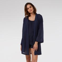 Short Kimono in Navy Blue