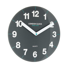 London Clock Company Ignite Wall Clock In Grey