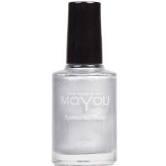 Nail art stamping nail polish in silver
