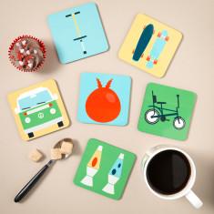 Est. 1970's Coasters (Set of 6)
