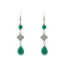 Green palace earrings