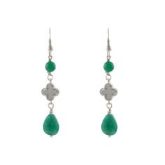 Green palace earrings