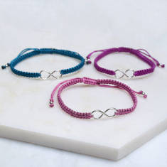 Silver Colours Infinity Friendship Bracelet