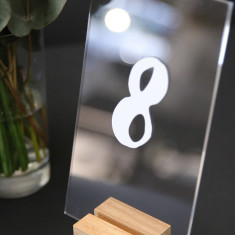Modern Numerical Acrylic Table Numbers