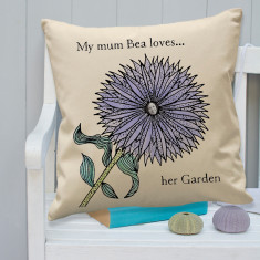 Personalised Colour In Garden Flower Cushion