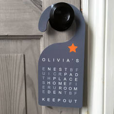 Personalised Keep Out Word Search Door Hanger
