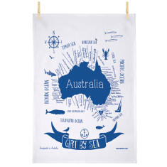 Girt by sea tea towel