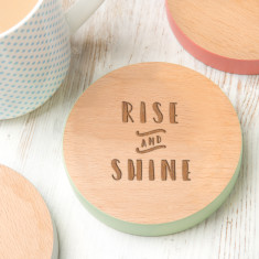 Rise And Shine Coloured Edge Coaster