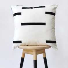 Broken stripe cushion cover