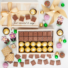 Personalise Your Chocolate Message And Ferrero Gift