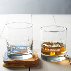 Personalised 'Just Right For Dad' Measures Glass