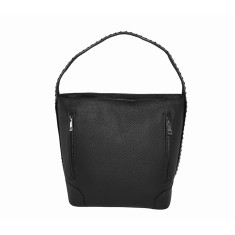 Black Italian Leather Hobo Heaven Bag
