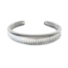 Rhodium Oni bangle