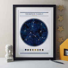 Personalised Constellation Family Tree Print