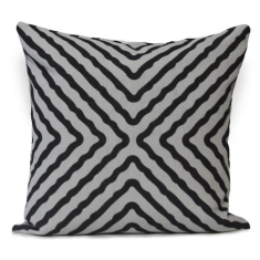 Serpent Large Cushion Cover in Black Caviar (The Australian Collection)