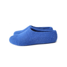 Womens Felted Slippers Scandinavian Blue