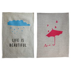 Tea towel set for lovers (set of 2)