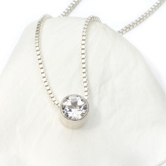 White Topaz Necklace April Birthstone