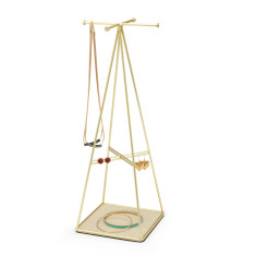 Umbra prisma jewellery stand in brass
