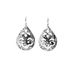 Tear Drop Earrings in Sterling Silver