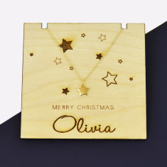 Initial Star Personalised Christmas Necklace Gold