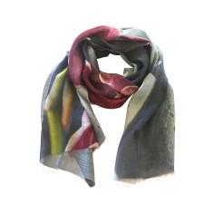 Orchid silk scarf