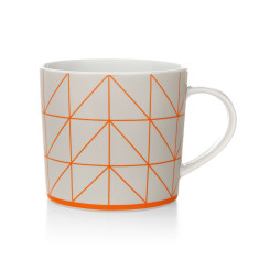 Kami coffee mug in fiery coral