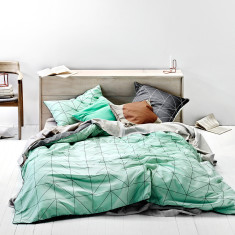 Kami mint quilt cover