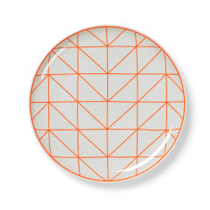 Kami side plate in fiery coral