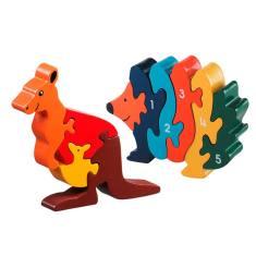 Kangaroo and hedgehog jigsaw value pack