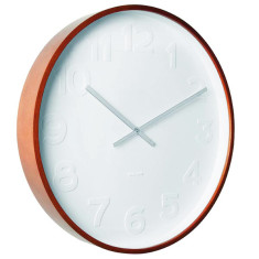 Karlsson Mr White Wood XL Wall Clock